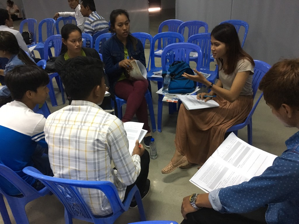 Cambodians LOVE to discuss the principles they're learning during the seminar