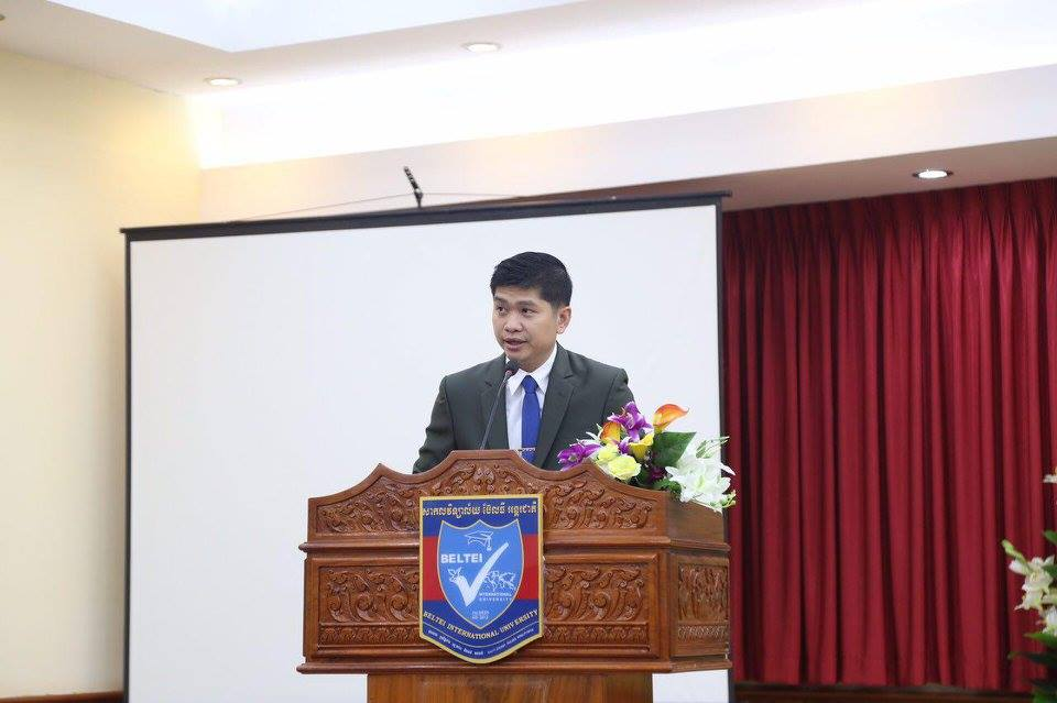 Mr. Ly Navuth is Executive Vice-President of the University and youngest son of the founder.  I'm very impressed with both of them and we love coming here to work with them.