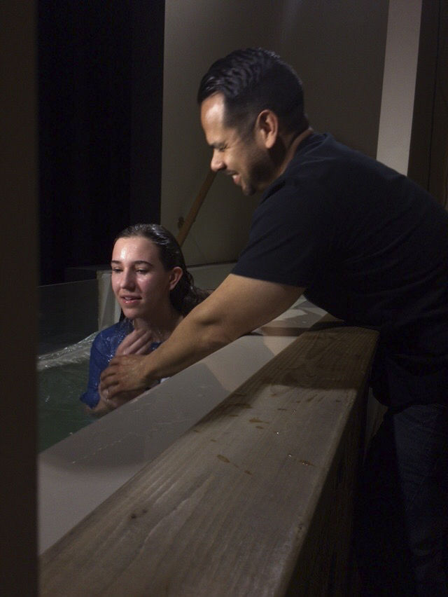 Palm Sunday baptisms: (4) Aila Haffner