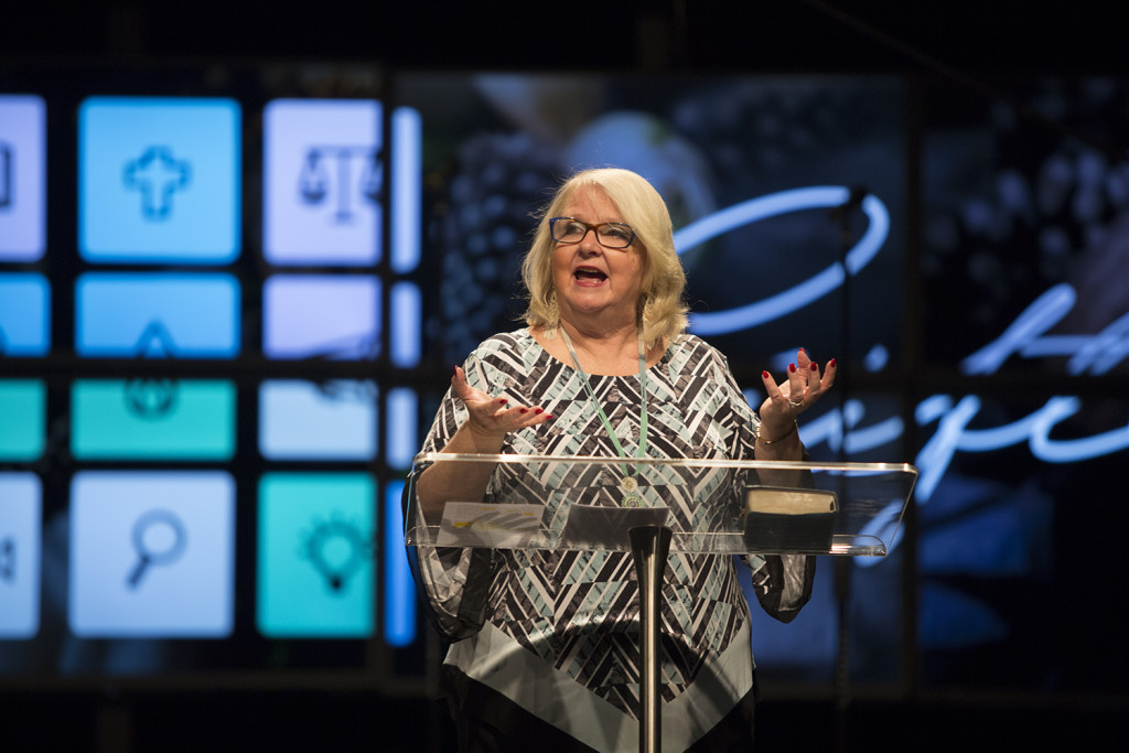 I didn't get to hear her, but I 'heard' that my wife did a great job teaching about the speaking gifts of the Holy Spirit.