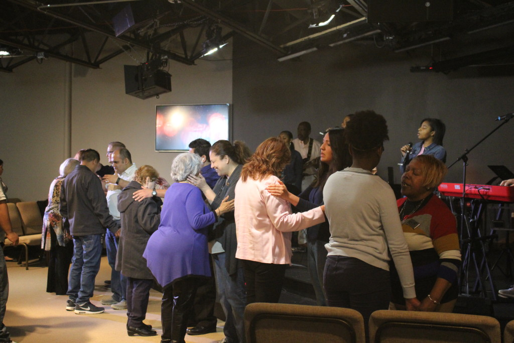 After she preached, the altar was full of CLC'ers who wanted MORE from the Lord!
