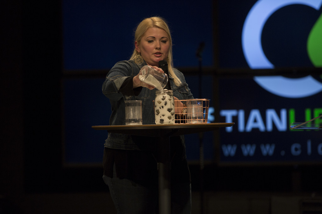 And at the noon service Pastor Jen Remington illustrated that when we make the Word of God a PRIORITY in our daily lives, everything else that's needed will fit!