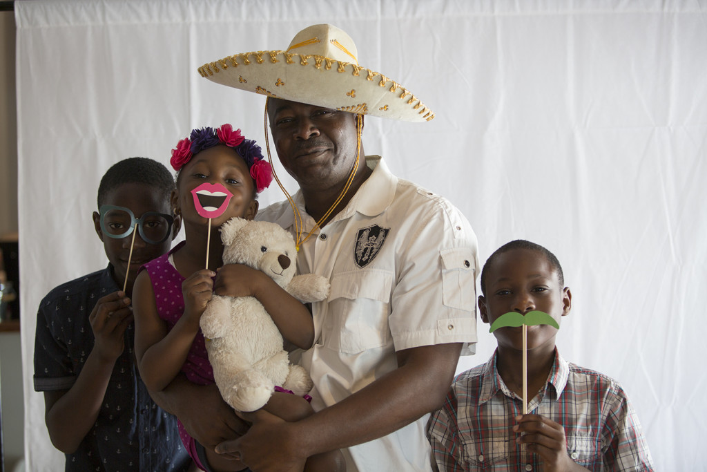 while the photo booth attracted dads & their kids in Tinley Park!