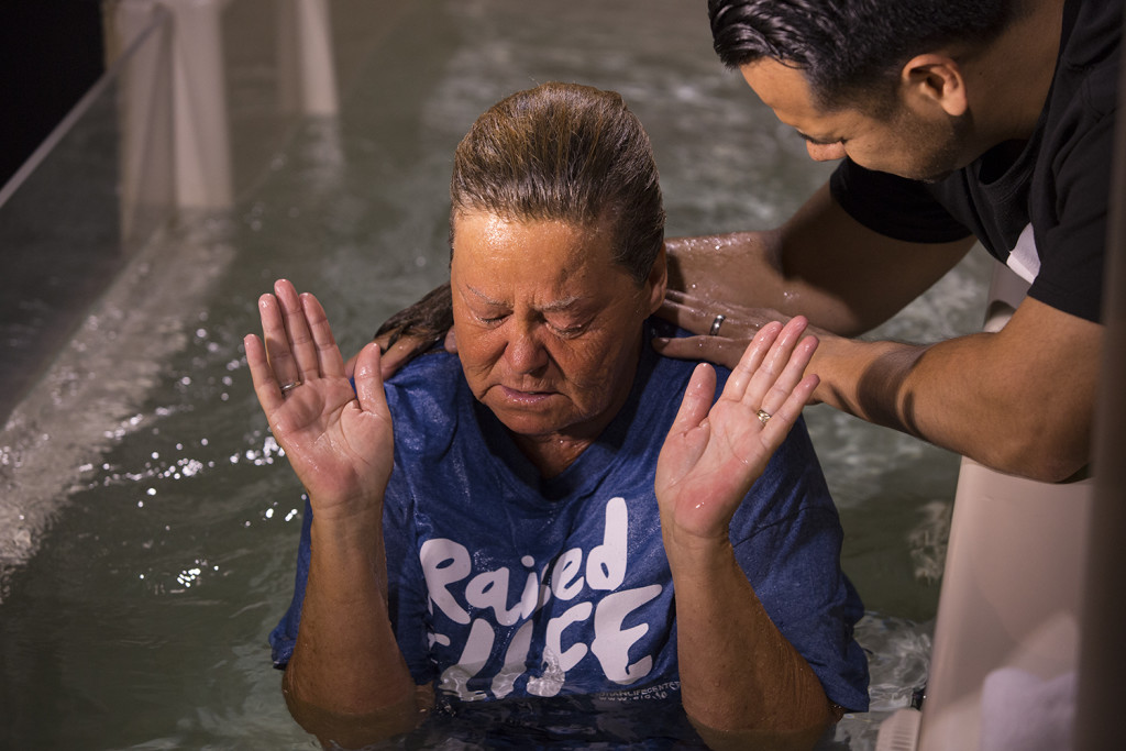 Beverly Zambrano met Jesus in the waters of baptism this Father's Day!