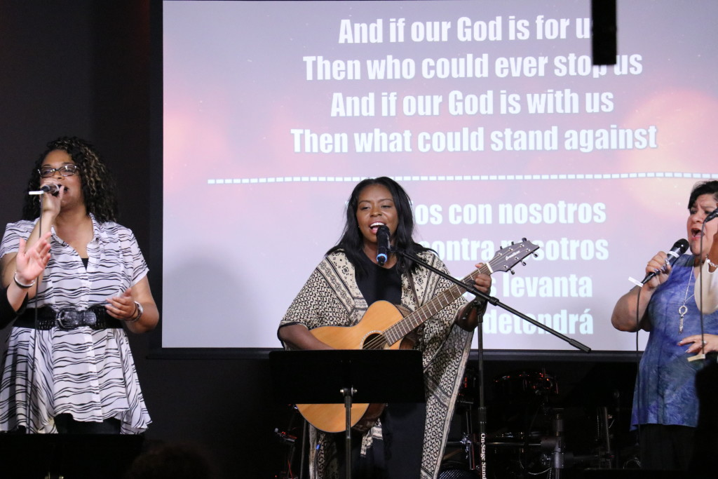 Let's start with Blue Island, since it may be THE highlight of the day. Since several leaders are in Siberia on a missions trip, Tiffany Hines led worship today & the Holy Spirit & God's love filled the House!
