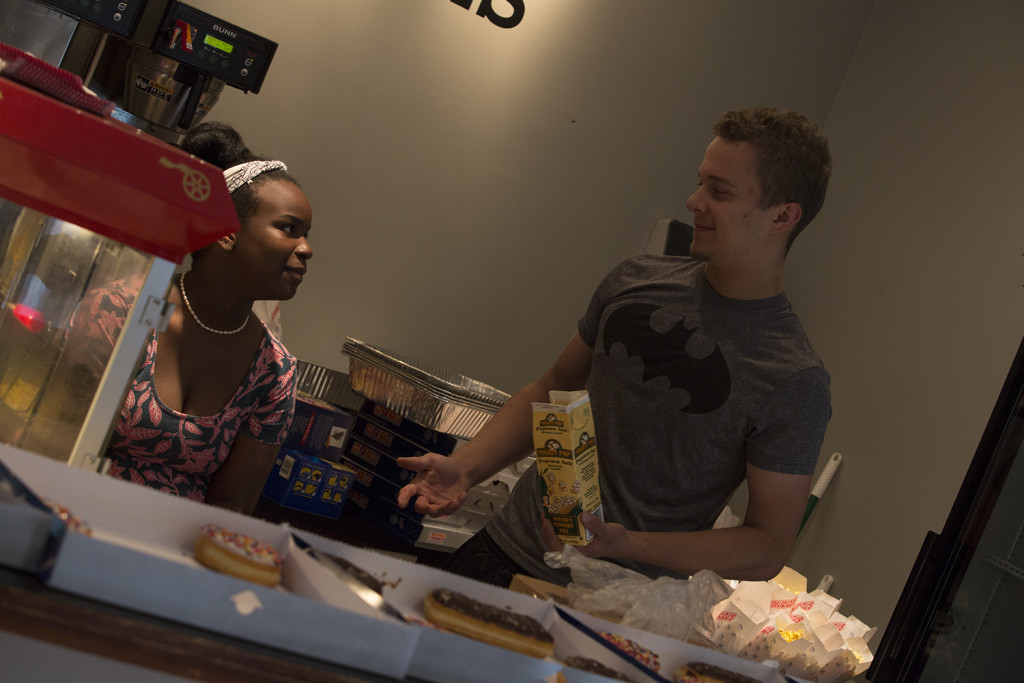 Speaking of volunteers, the AROMA of popcorn in the lobby today was AMAZING! (Thanks, Kasiya & Bill!)