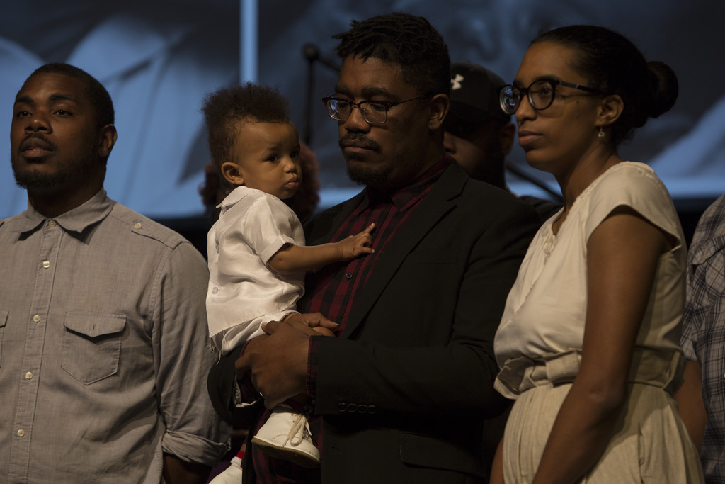 It was Family Sunday at Tinley Park and we dedicated Jean-Luc, son of Kirk & Michelle Perry