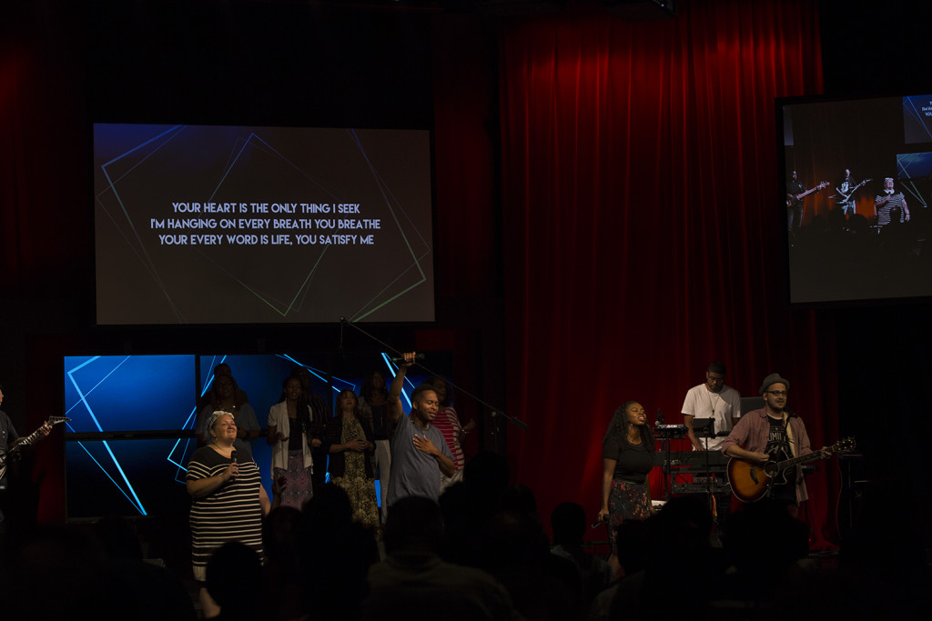The worship team led us into God's Presence in each service (as usual)