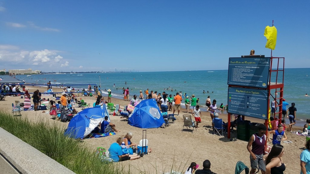 And after worship, communion, testimonies and 43 BAPTISMS, everyone settled to hang out at the beach!