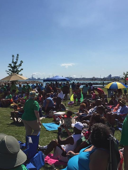 An estimated 450 people attended Church at the Beach today!