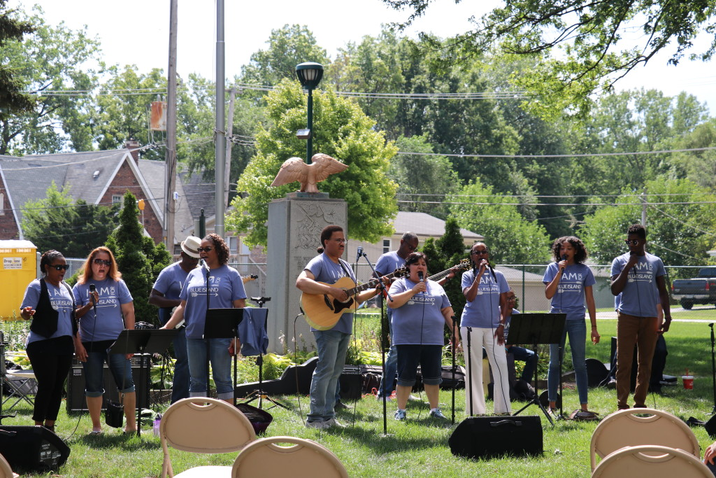 "Meanwhile, it was ""Praise in the Park"" at our Blue Island campus."