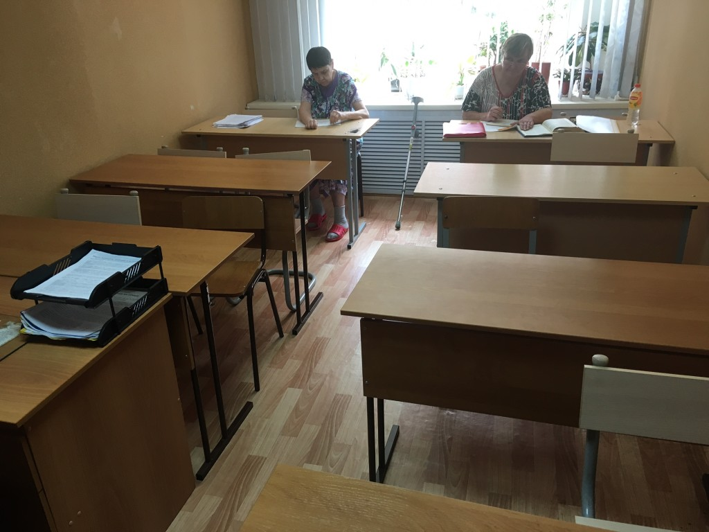 The women have classes in this classroom, to help them finish school, learn Bible subjects, and more.