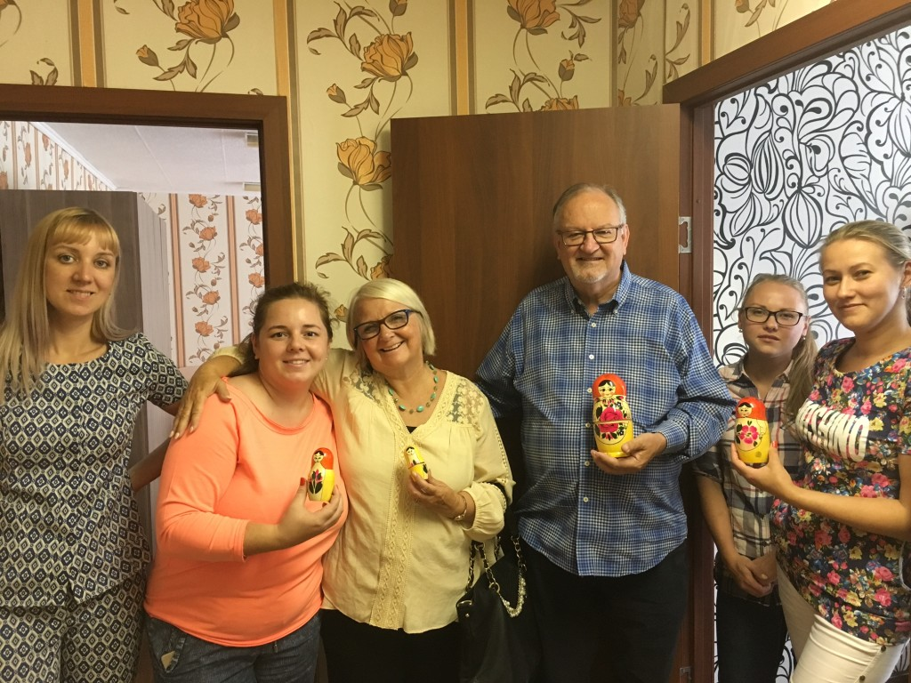 "The Director of the center and some of her staff presented us with a Russian ""nesting doll"" as a gift! (fed us a great lunch, too!)"