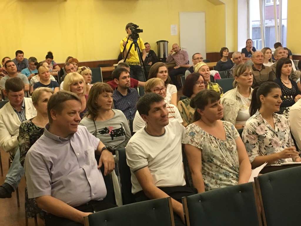 Then tonight we taught a parenting seminar to a PACKED room (kept bringing in more chairs as people kept arriving!) - Pastor Ilya Bantseev is in the front row at the left.