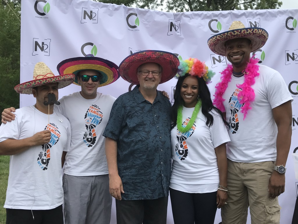 Pastor Moy Mendez, Jacob Matyszczuk and Kyla & Sean Smith surrounded me at Tinley Park's 125th Anniversary celebration this afternoon!