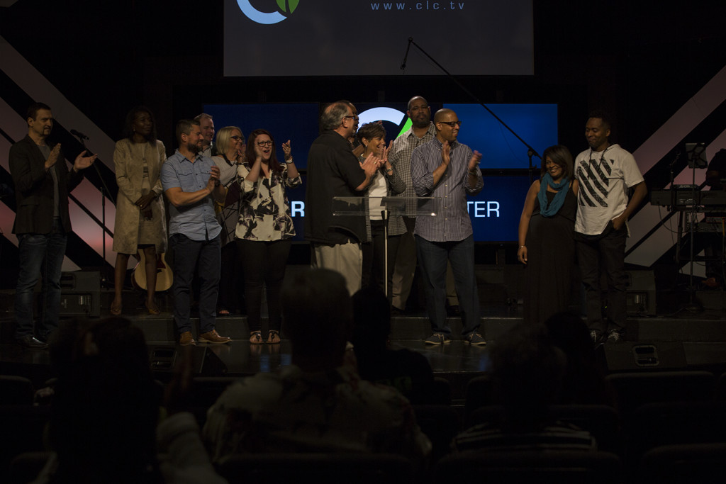 The moment we announced our new Tinley Park Campus Pastors, Jon & Rachel Jones!