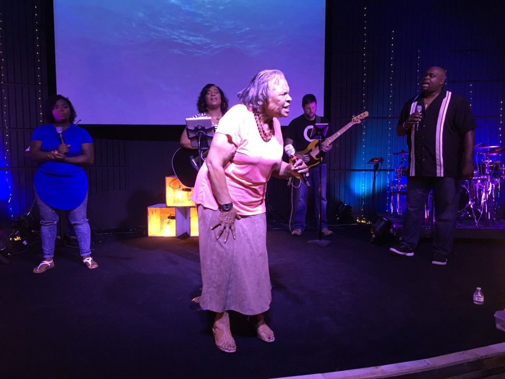 """Granny"" Drusie Neal gave a great exhortation about surrender during worship."