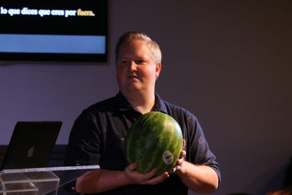 Pastor Brent says a watermelon has INTEGRITY