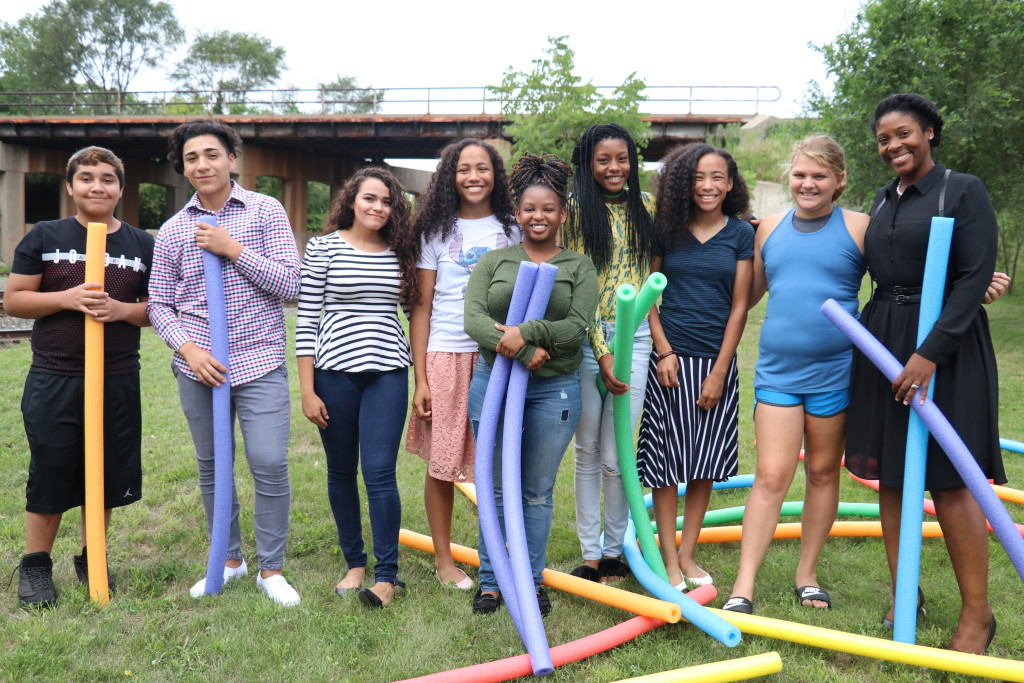 Our Blue Island youth took church outside on this beautiful day-