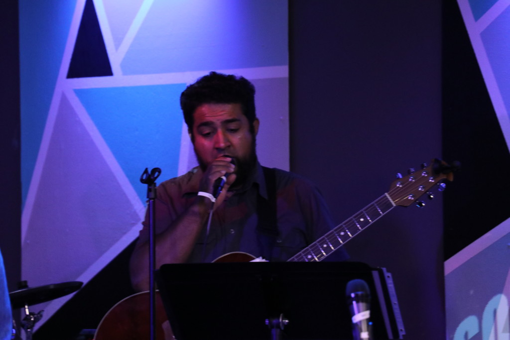 Daniel Rodriguez in worship at Blue Island