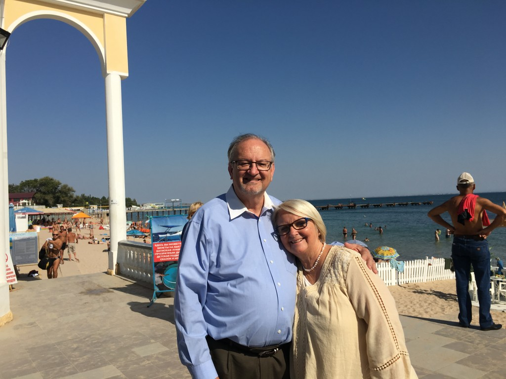 They insisted on taking us for a walking tour of their town, situated right on the Black Sea.
