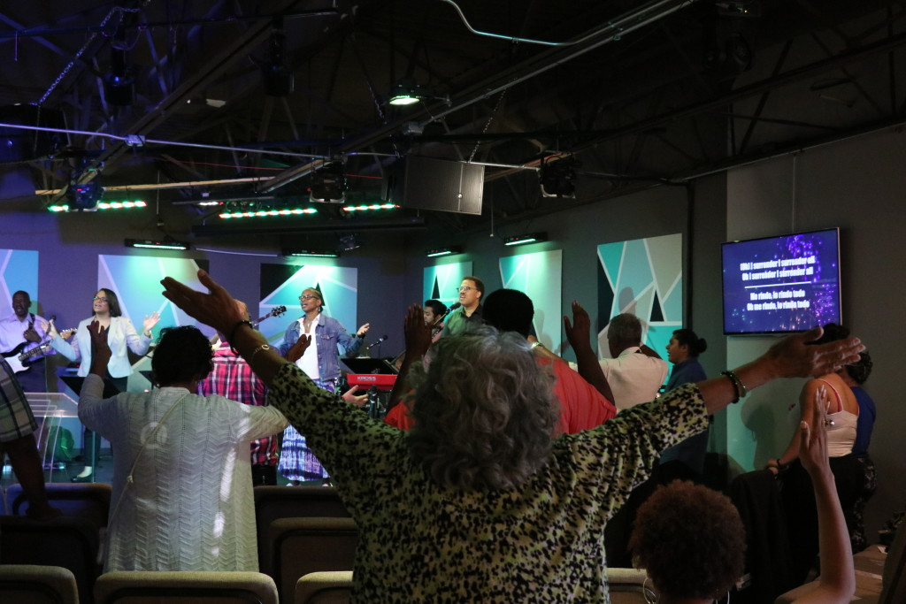 Lifting up holy hands unto the Lord at our Blue Island campus!