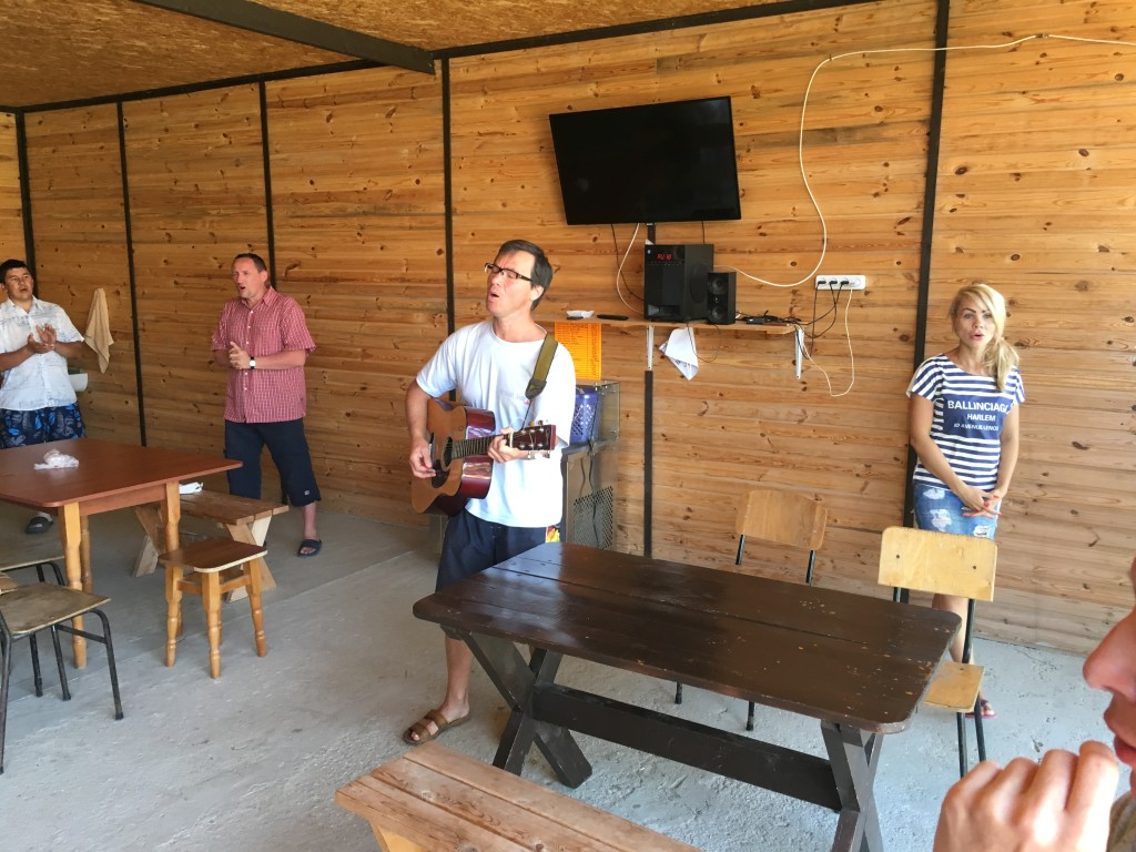 Each teaching time always begins with some worship - today led by our friend, Pastor Sergei from Perm (he's coming to visit us at CLC in a few weeks)