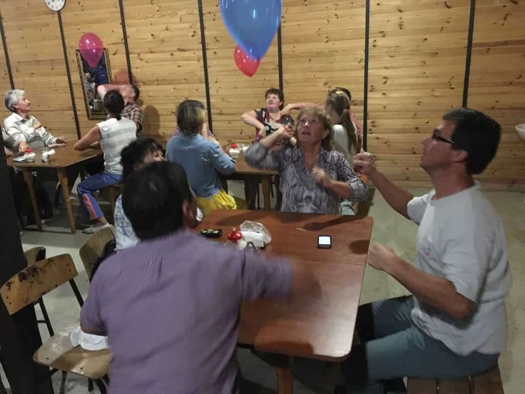 To open tonight's session, we used a balloon game where each table had to keep their balloon in the air without using their hands