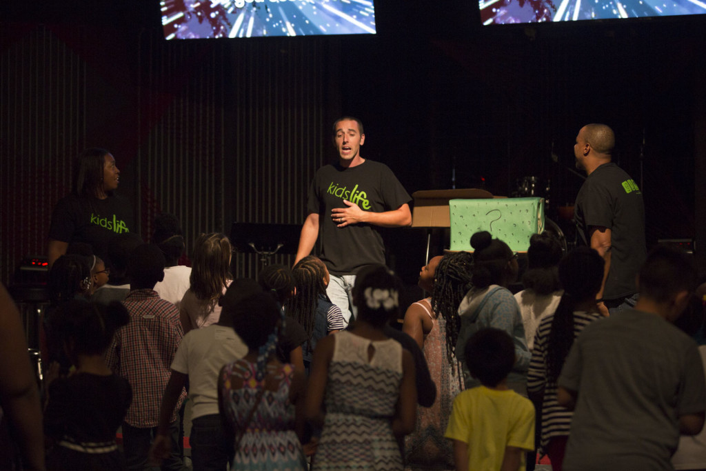 Even our KidsLife children were seeking after the Lord today!