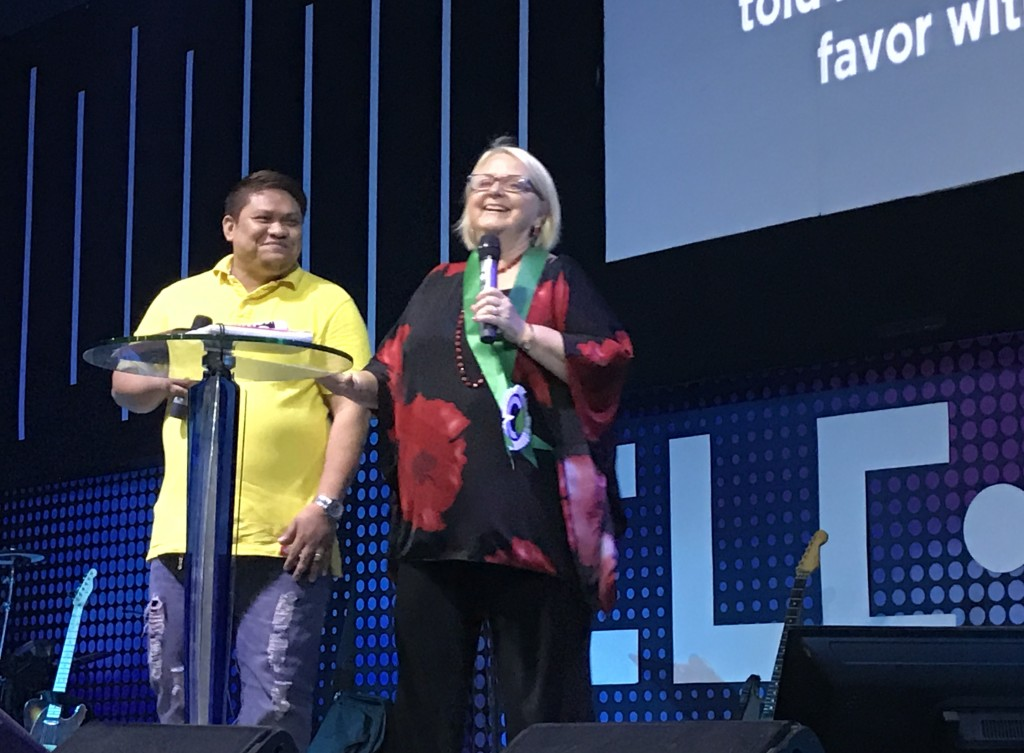 Chris and her interpreter Jeser had us all laughing, but her message on 'FAVOR' was profound!