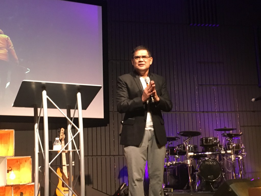 Bishop Herley Montes from the Philippines brought the Word at Hammond as to how we can build treasures in heaven.