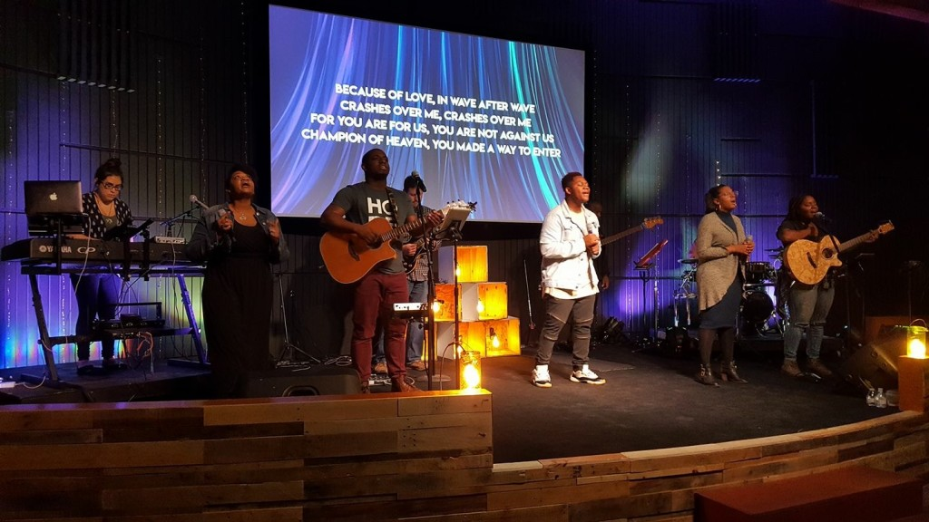 Today was Tommy Billup's first day to lead worship at Hammond, and Pastor Sam said the 11am worship BROKE OUT into a powerful time of prayer!  Kudos, Tommy!
