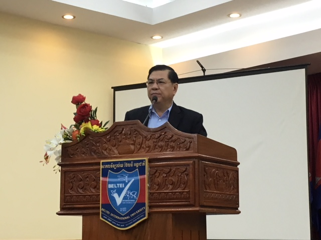 His Excellency, Mr. Ly Chheng, Founder & President of Beltei International University, the most prestigious university in Phnom Penh, is always so gracious to invite us to teach leadership principles for students & faculty of his school-