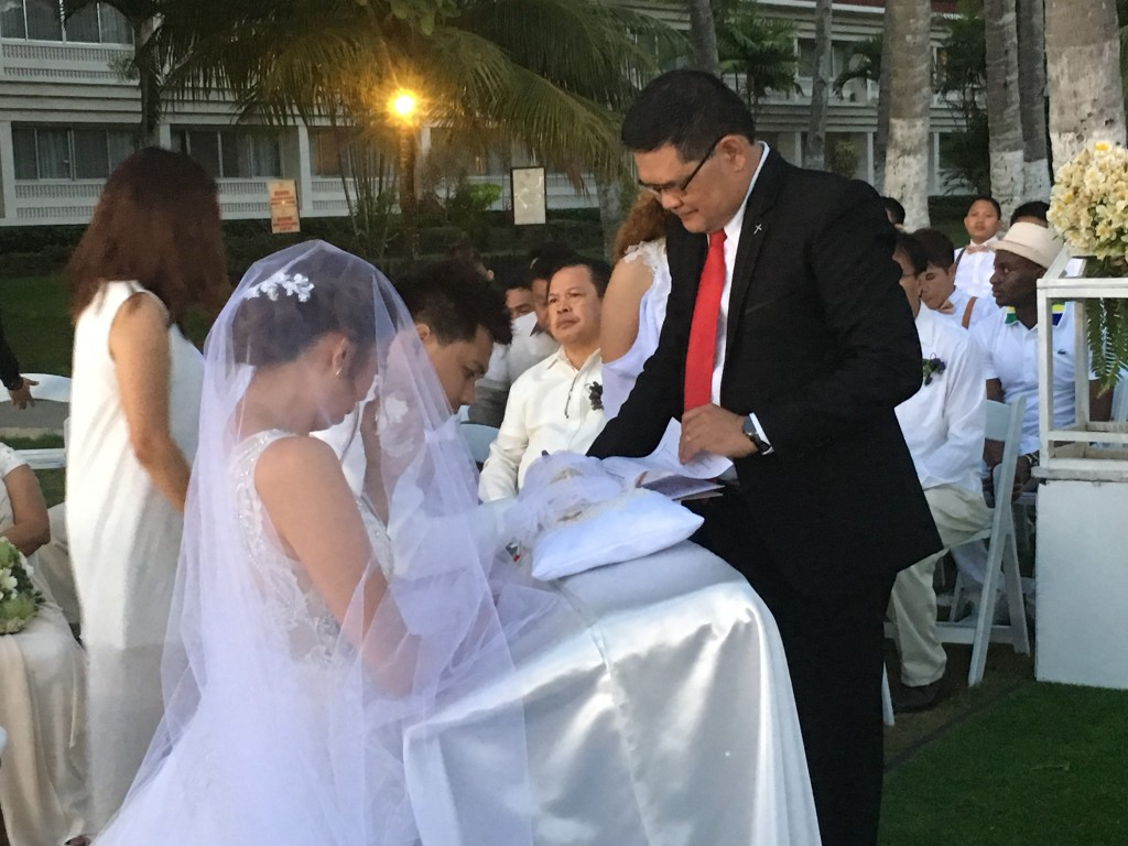 part of the Filipino wedding ceremony is the signing of the Marriage Certificate