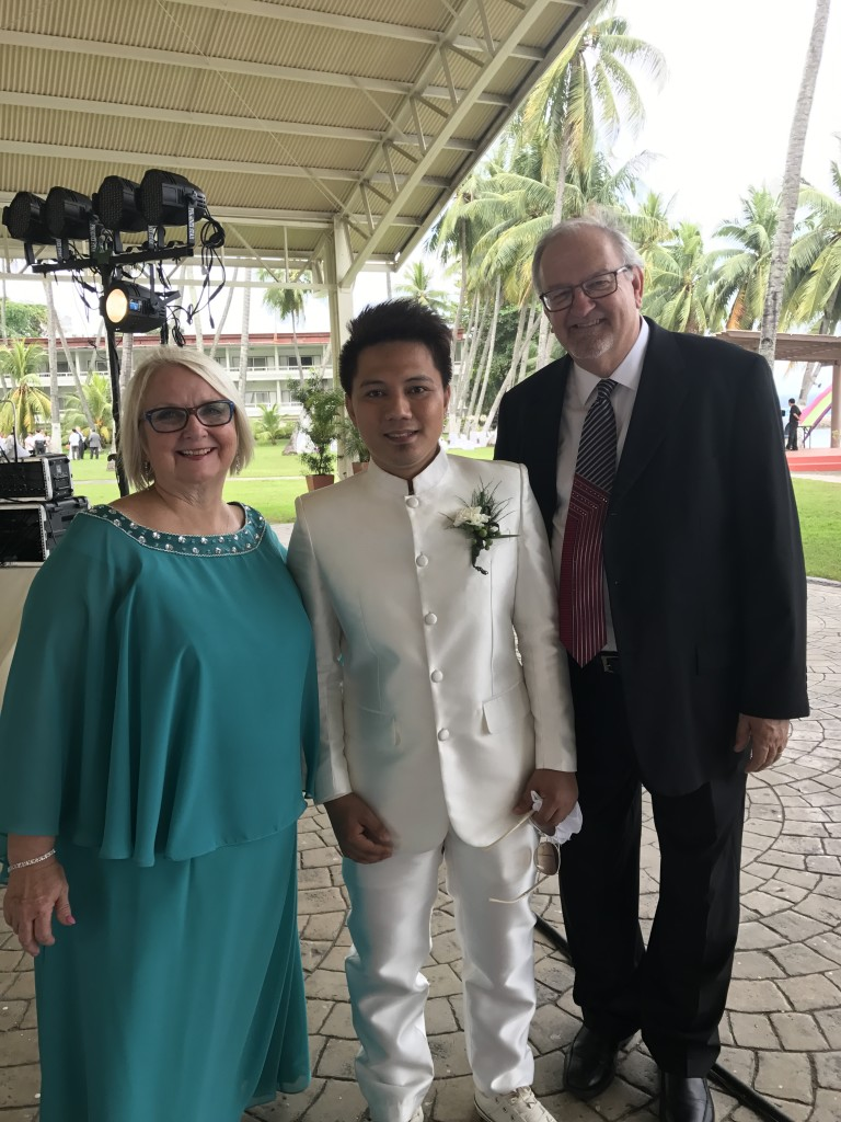 We had a chance to greet Erik before the ceremony began (for those who don't know, he spent a year at CLC in our internship program, before returning to Davao last year)