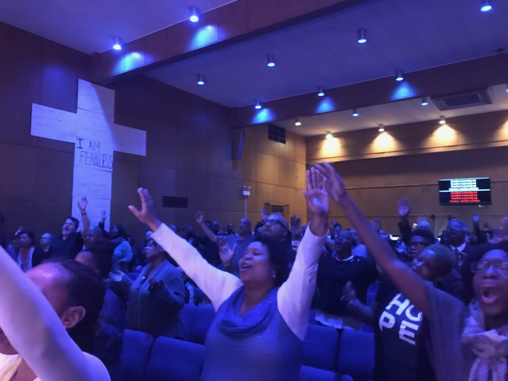 "Pastor Sam said at the end of both services in Hammond today they ""saw the greatest outpouring we've experienced since we started""!  People were laid out on the floor on their faces, crying out to God in such a powerful time of worship!"