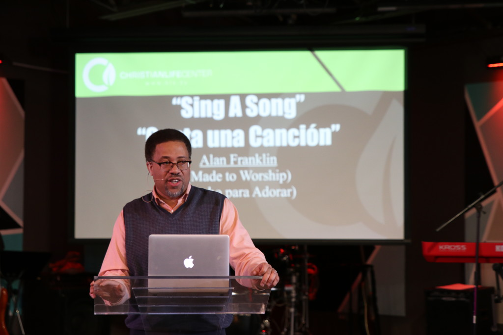 "Blue Island worship director Alan Franklin closed the series today with his message, ""Sing a Song""!"