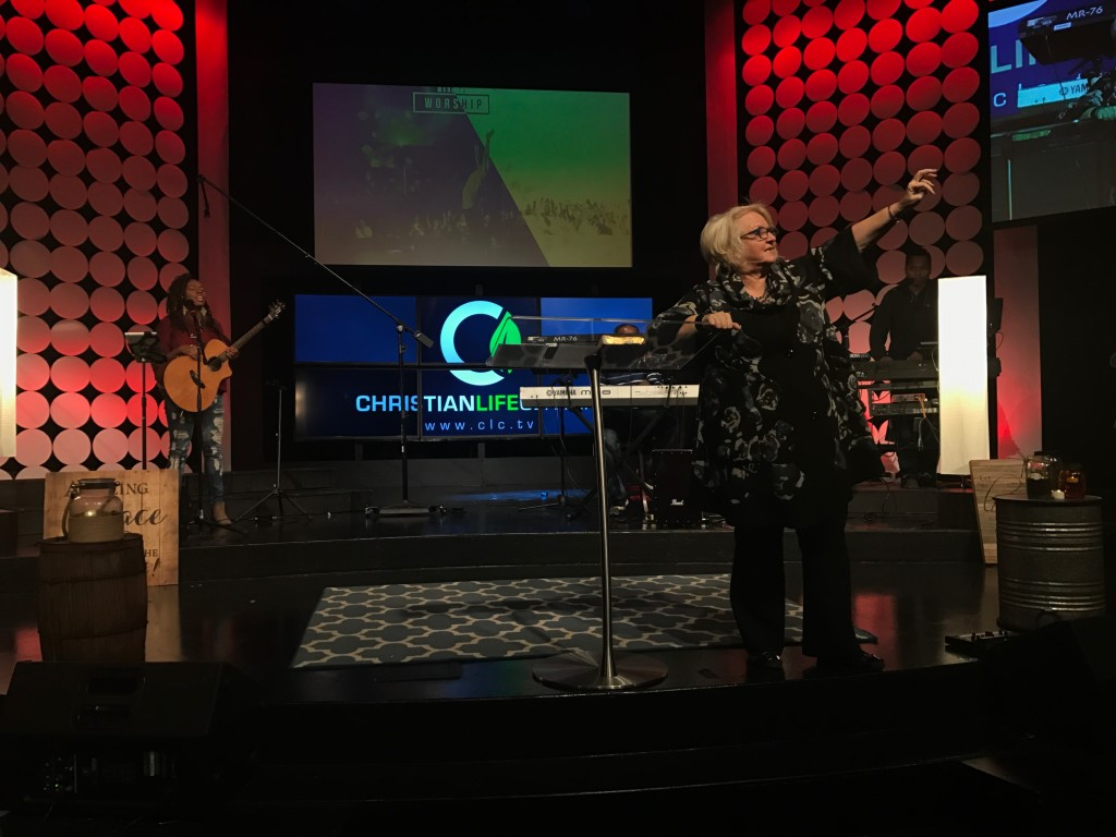 My wife was in her 'sweet spot' today, teaching on worship & ministering in the anointing - LOVED what God did in the altar in all 3 services today!