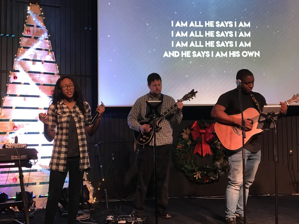 Pastor Sam is excited about youth helping to lead worship with 3 teens serving today!