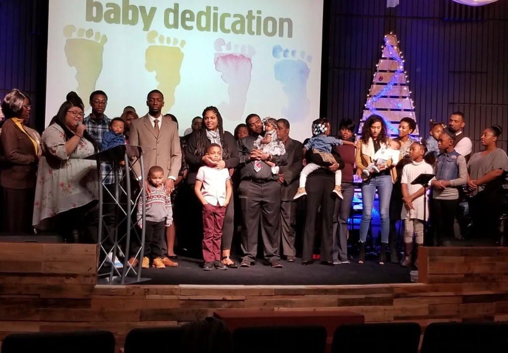Meanwhile, at our Hammond campus we dedicated 4 babies to the Lord today!