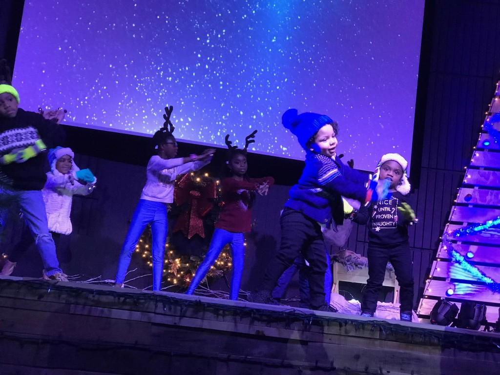 "My favorite pic of the day - some of the KidsLife stars at the Hammond campus production, ""Festival of Lights"""