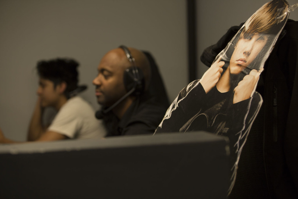 young Justin Bieber made a surprise appearance in our video control room today