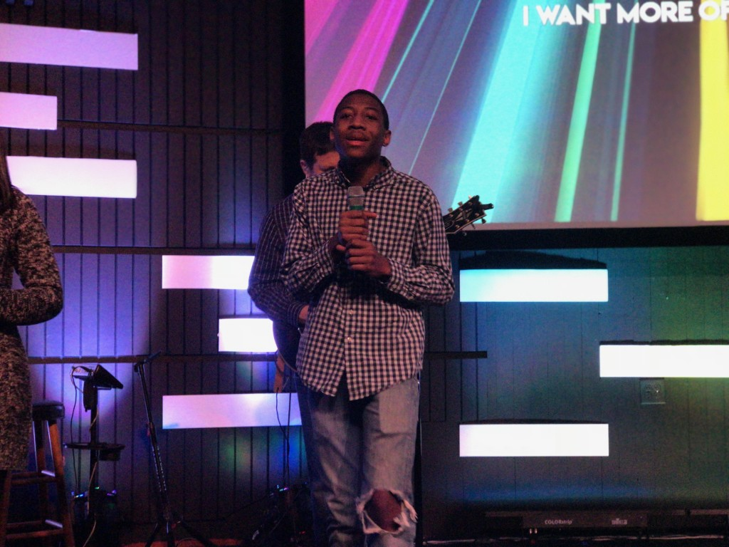 """Judah Stone led a song for the first time in fulfillment of his name (Judah means """"praise"""")!"""
