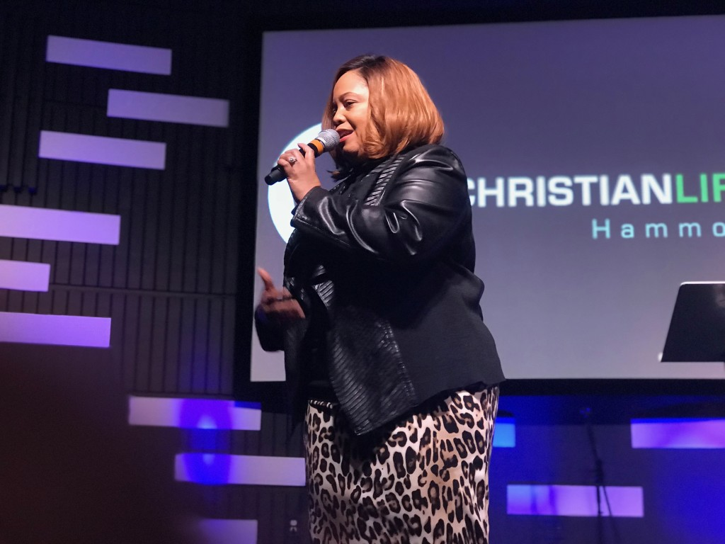 """Prophetess Michelle McClain Walters was the guest speaker at our Hammond campus, and Pastor Sam said she was """"off the charts""""!"""