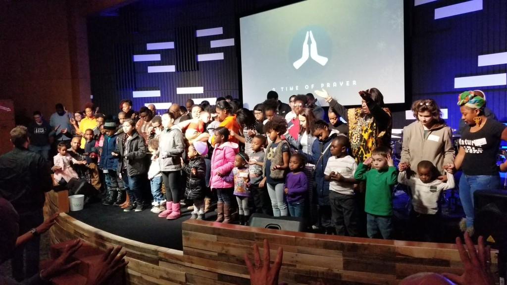 After this week's tragic school shootings in Parkland, FL, Pastor Sam led the congregation in praying for each of the Hammond children, and had them list the name of their school so we can keep them covered in prayer