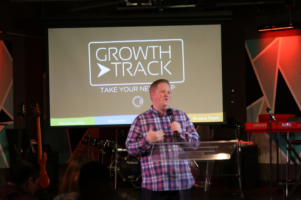Today we unveiled the new Growth Track material at each campus, and over 20 people joined CLC!
