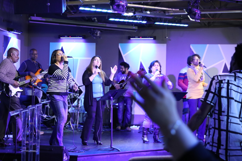 Meanwhile, our Blue Island campus worshipped!
